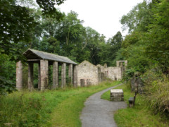 The remains of the Howk Bobbin Mill, Caldbeck
