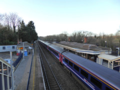 First Great Western train at Tilehurst station