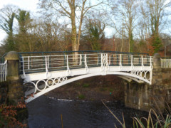 Georgian era cast iron bridge in Brabyn's Park