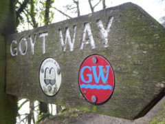 Dual branded Goyt Way/Midshires Way signpost