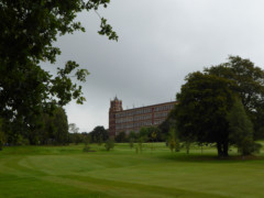 Goyt Mill, seen from a golf course