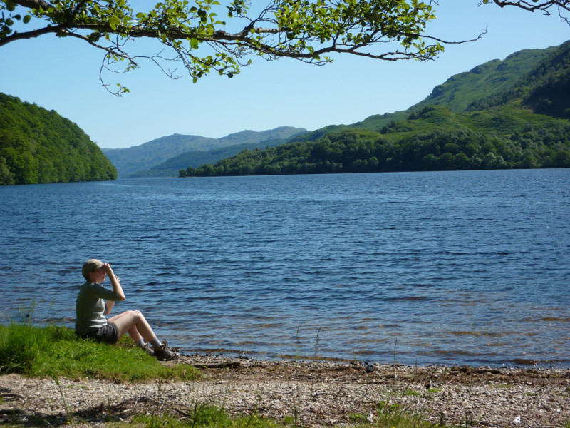 Sitting by Loch Lomond