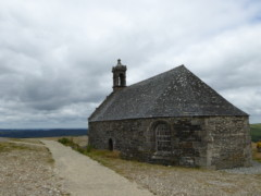 A chapel on a hill in Brittany, France