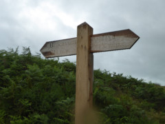 Signpost pointing the way to Roman forts