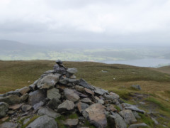 Cairn at the summit of Arthur's Pike