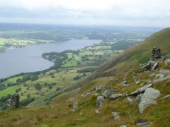 The view of Ullswater from Bonscale Pike