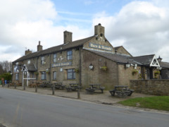 Hare and Hounds pub, on Werneth Low