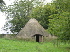 A reconstructed iron age round house in Mellor