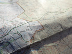 A section of Ordnance Survey's OL1 map