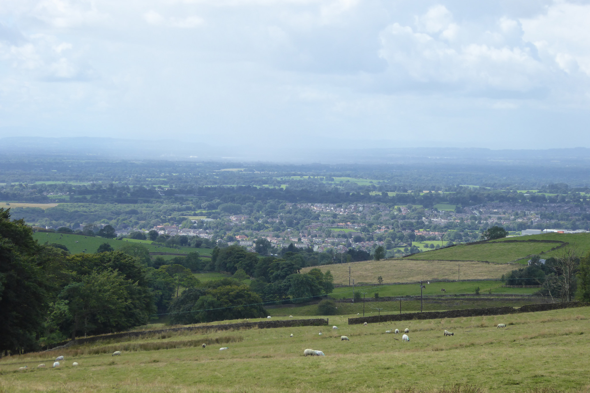 Macclesfield in the distance, seen from near Tegg's Nose Country Park