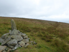 A cairn on Loadpot Hill