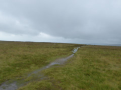 Waterlogged path on Loadpot Hill