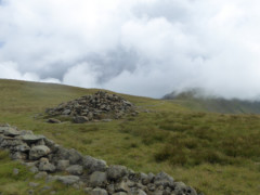 The summit of the Knott, and a drystone wall
