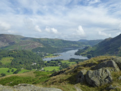 View of Ullswater from the top of Arnison Crag