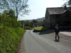 Walking in the village of Meifod
