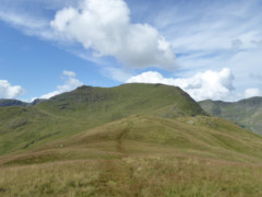 The view of St Sunday Crag, from the summit of Birks