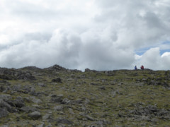 The rocky top of St Sunday Crag