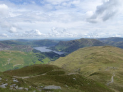 View of Ullswater, Birks and other fells, from the side of St Sunday Crag