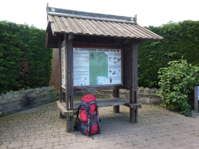 The Southern Upland Way shelter at Cockburnspath, that marks the end of the trail
