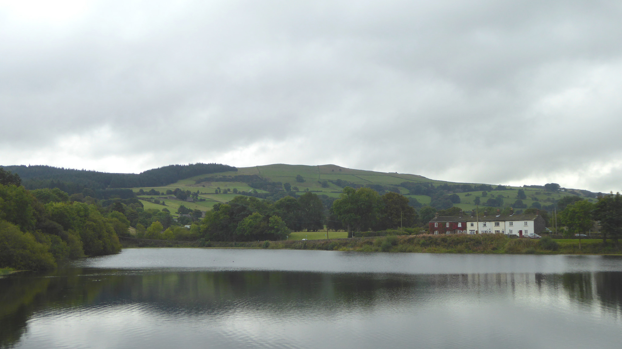 Bottom's Reservoir, with some houses in the background