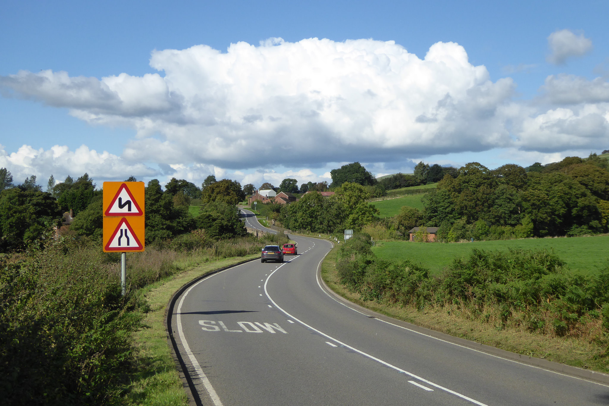 A523 road near the village of Rushton