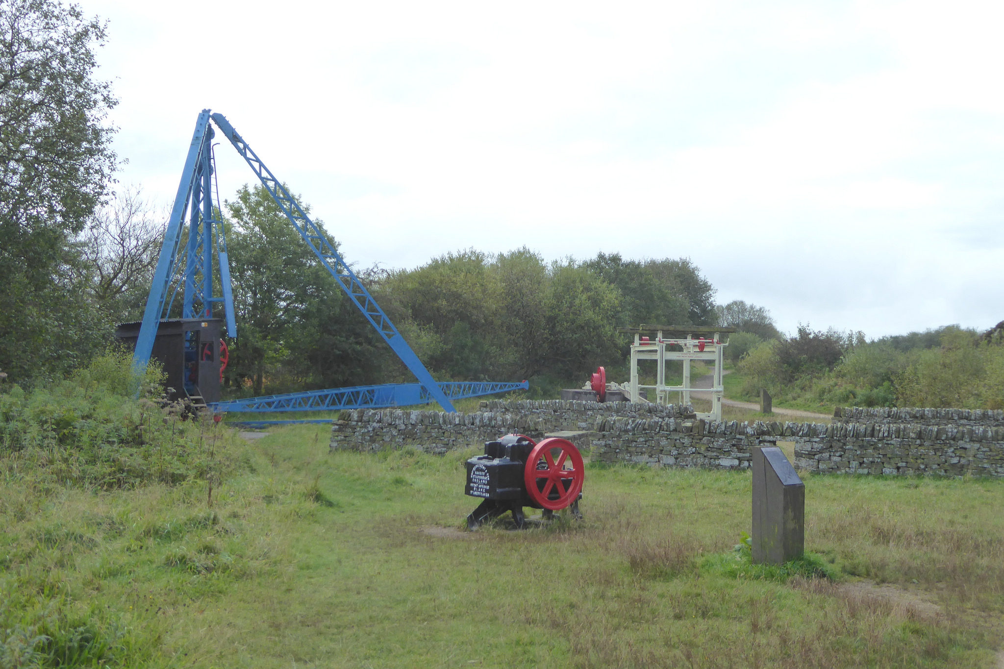 Old quarrying machinery in Tegg's Nose Country Park