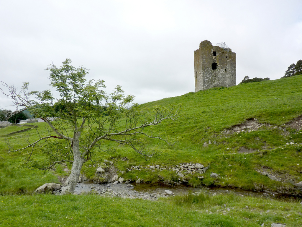 The ruins of Dryhope Tower, on the Southern Upland Way