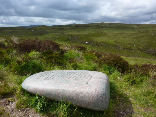 The Giant Axe Head sculpture in Galloway Forest Park