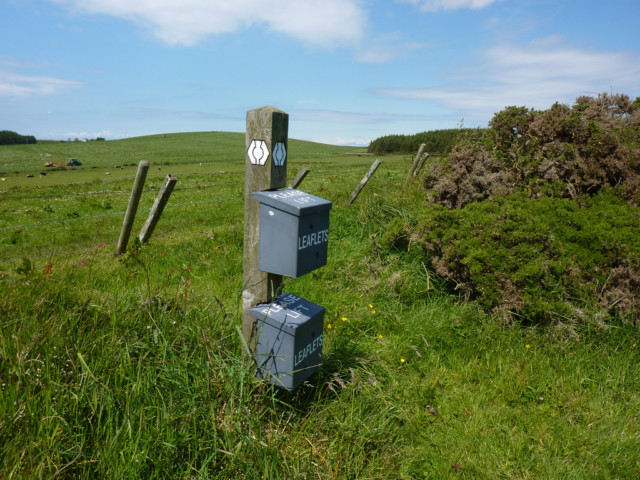 A leaflet box on the Southern Upland Way