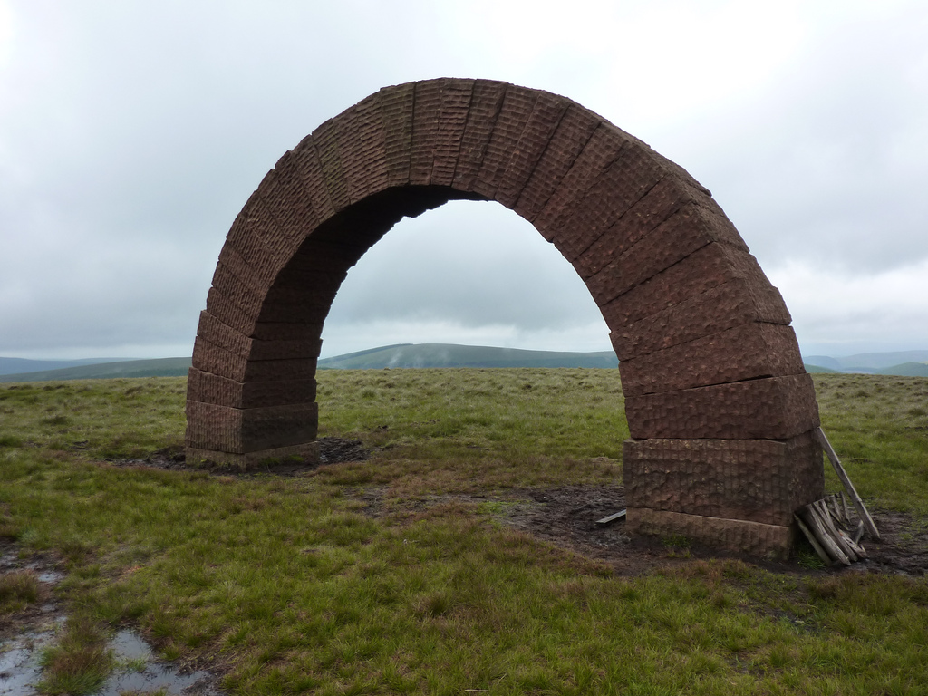 Andy Goldworthy sculpture known as the Striding Arches