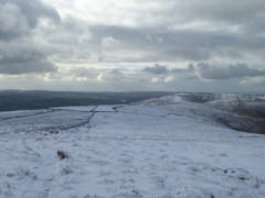 Snowy path on Brown Knoll