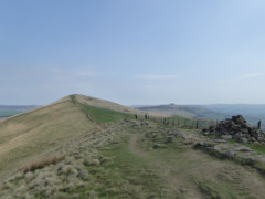 The ridge path heading to Lose Hill