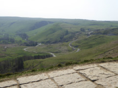 View of the Mam Tor New Road from Mam Tor
