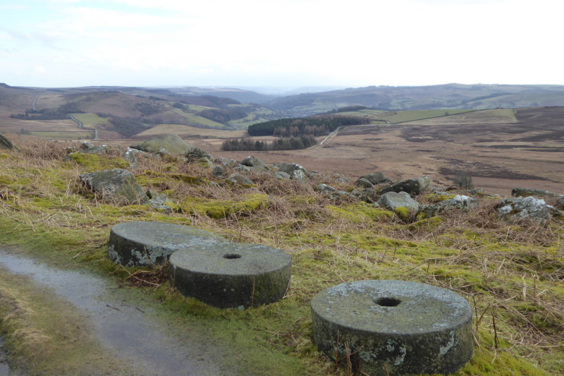 Abandoned millstones at Stanage