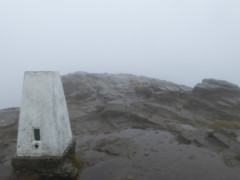 Trig point on the top of Winhill