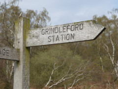 Fingerpost pointing to Grindleford Station