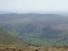 Looking down on the Kentmere valley from the summit of Grey Crag