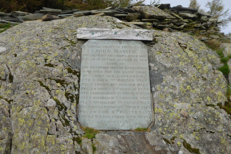The Castle Crag War Memorial