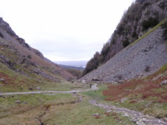 The Rigghead Road - a path - next to Castle Crag