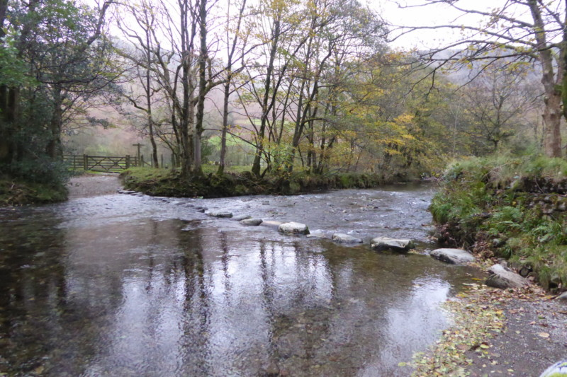 The stepping stones across the River Derwent