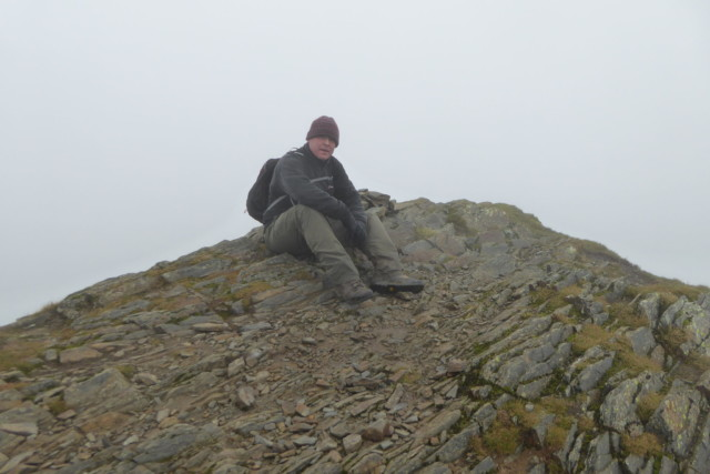 Me sat on the summit of Hopegill Head