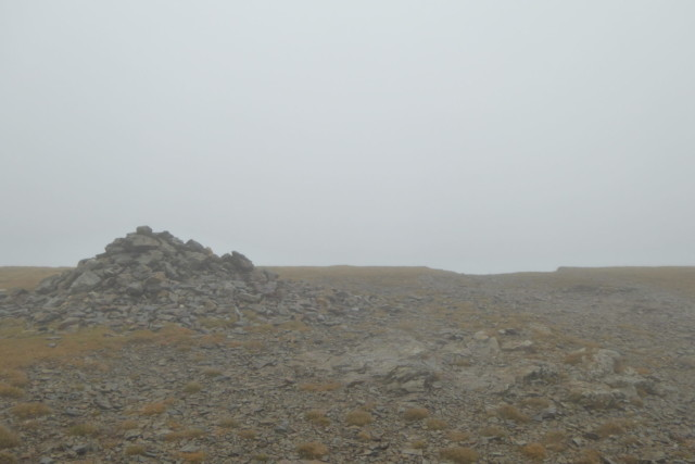 The summit cairn of Sand Hill