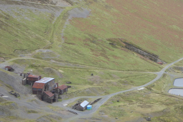 The mine building at Force Crag Mine, in Coledale.