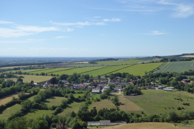 Millington, seen from the hill on the Yorkshire Wolds Way that overlooks the village