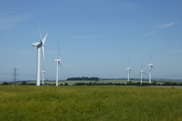 The wind turbines of Sober Hill