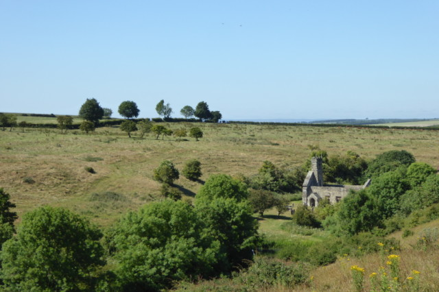 The deserted medieval village of Wharram Percy.