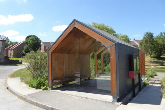 Fridaythorpe's elegant bus and walker shelter