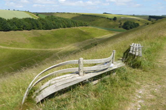 An elaborate curved bench in Horse Dale