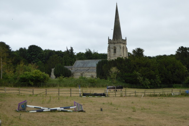 St Peter's Church, Wintringham. And some horse jumps.