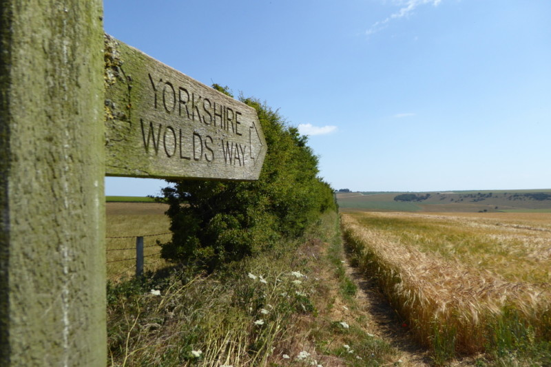 A Yorkshire Wolds Way signpost